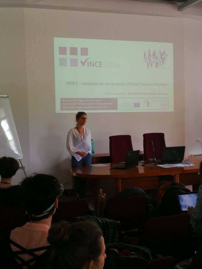 Presenting at the inHERE staff training in Rome