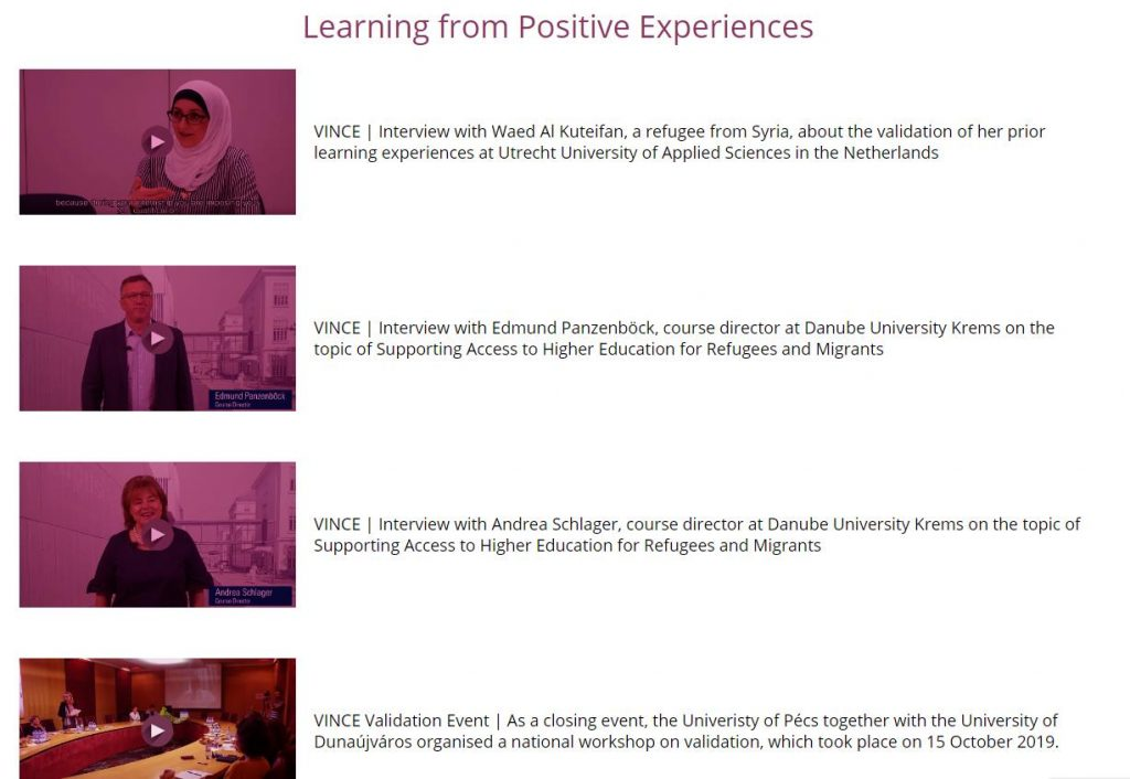 Experiences with the Validation of Prior Learning: Refugees, Migrants and Higher Education Staff